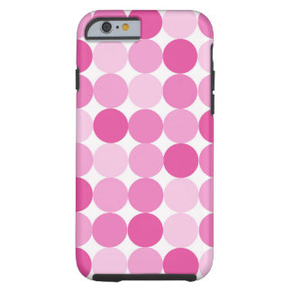 Leuke Elegante Roze Stippen Girly Tough iPhone 6 Hoesje