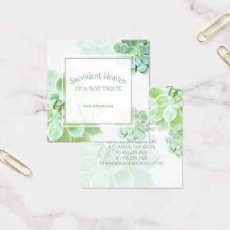 Leuke Elegante Succulent Vierkante Visitekaartjes