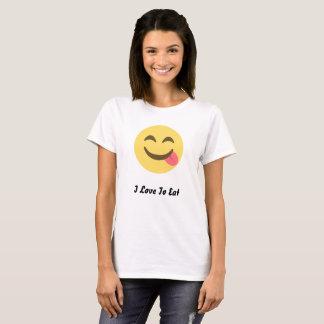 Leuke Emoji I Liefde om BasisT-shirt te eten T Shirt