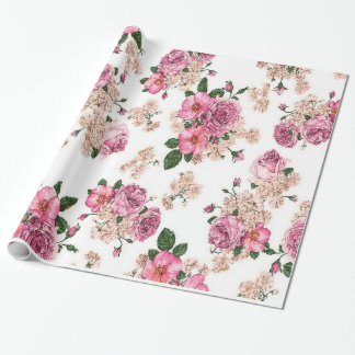 leuke en elegante vintage rozen, roze rozen cadeaupapier