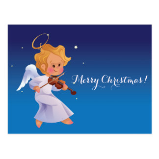 Leuke engel het spelen viool briefkaart