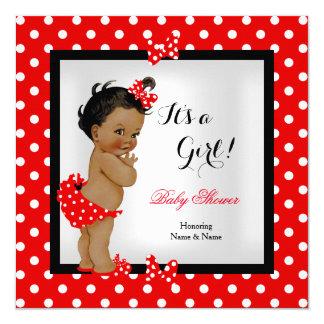 Leuke Etnisch van het Meisje van het Baby shower Kaart
