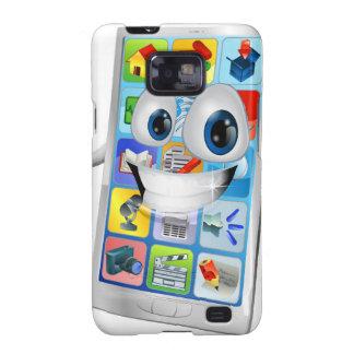 Leuke gelukkige mobiele telefoonpersoon galaxy s2 hoesjes