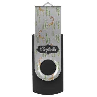 Leuke Gepersonaliseerde Gevormd Giraf USB Stick