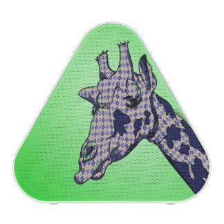 Leuke Giraf met blauwe patterendhuid Bluetooth Speaker
