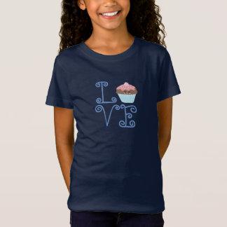 Leuke Girly Kleurrijke Kawaii Zoete Liefde Cupcake T Shirt