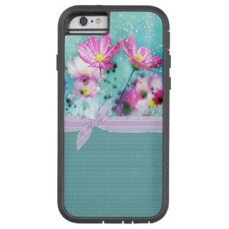Leuke Girly Stippen, Bloeiende Bloemen Tough Xtreme iPhone 6 Hoesje