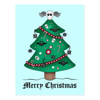 Leuke gotische Kerstboom Briefkaart