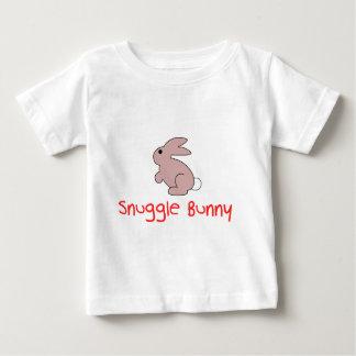 Leuke Grappig nestelt zich Konijntje Baby T Shirts