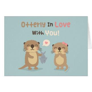 Leuke Grappige Otterly in Liefde met u de Kaart
