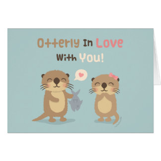 Leuke Grappige Otterly in Liefde met u de Wenskaart