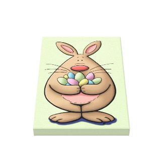 leuke & grappige Pasen de eierencartoon van de Canvas Afdrukken
