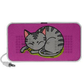 Leuke grijze kattenslaap iPhone speaker