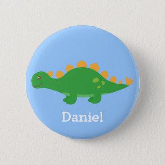 Leuke Groene Dinosaurus Stegosaurus voor Kind Ronde Button 5,7 Cm