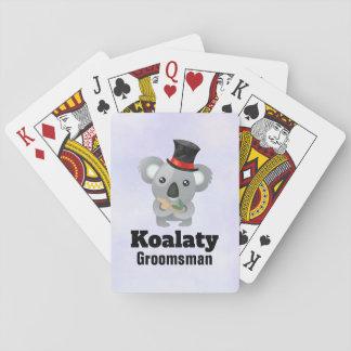 Leuke Groomsman van Koalaty van de Woordspeling Speelkaarten