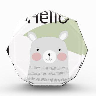 Leuke hello gelukkige mooie teddybeercartoon acryl prijs