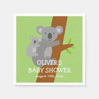 Leuke het baby showerservetten van koalastippen papieren servet