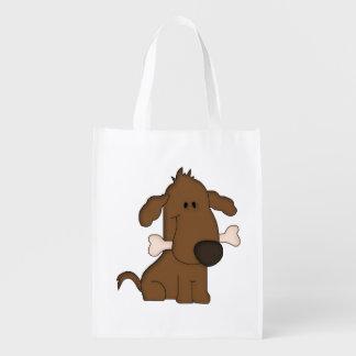 Leuke het beenbolsa van de hondholding opnieuw te herbruikbare boodschappentassen