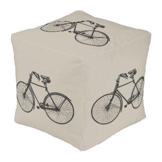 Leuke het decorpoef van de vintage fietsfiets vierkante poef