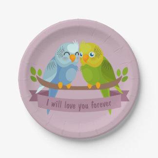 Leuke het document van de Vogels van de Liefde Papieren Bordje