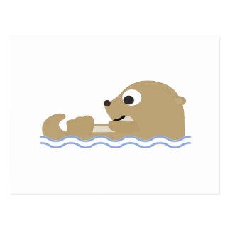 Leuke het Drijven Otter Briefkaart