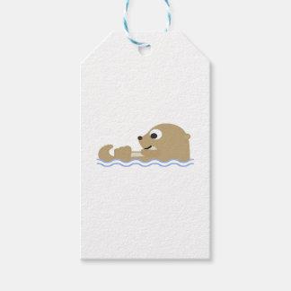 Leuke het Drijven Otter Cadeaulabel
