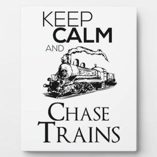 leuke het ontwerp van de treinjacht fotoplaat