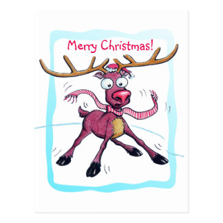 Leuke het vakantieherten van Kerstmis op Briefkaart