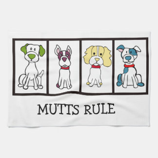 Leuke Hond Dishtowel - de Regel van Straathonden Theedoek