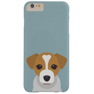 Leuke hond op cyaanachtergrond barely there iPhone 6 plus hoesje