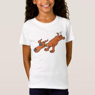 Leuke illustratie van een worsthond t shirt
