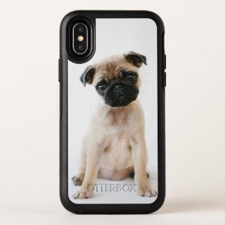 Leuke Jonge Pug Hond OtterBox Symmetry iPhone X Hoesje