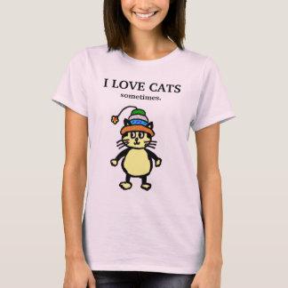 """Leuke kat - """"soms"""" T-shirt #1"""