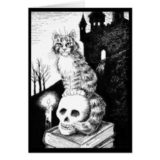 Leuke Kat zwart wit Halloween, om het even welke Briefkaarten 0