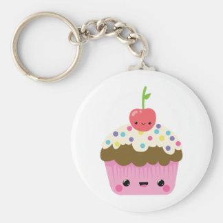 Leuke Kawaii Cupcake Basic Ronde Button Sleutelhanger