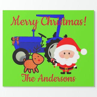 Leuke Kerstman, de Tractor van het Rendier en van Inpakpapier