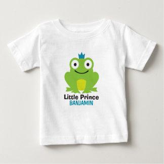 Leuke kikker met kroon en gepersonaliseerde baby t shirts