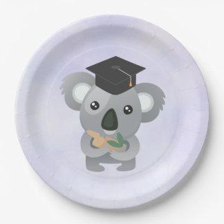 Leuke Koala in een Pet van Afstuderen Papieren Bordje