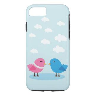 Leuke liefdevogels in Taaie hemeliPhone 7, iPhone 7 Hoesje
