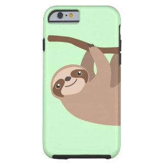 Leuke Luiaard drie-Toed Tough iPhone 6 Hoesje