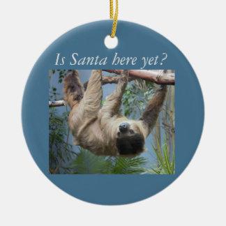 Leuke Luiaard Rond Keramisch Ornament