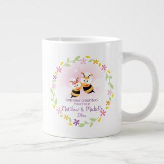 Leuke M. en Mevr. Honey Bee First Christmas Grote Koffiekop