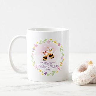 Leuke M. en Mevr. Honey Bee First Christmas Koffiemok