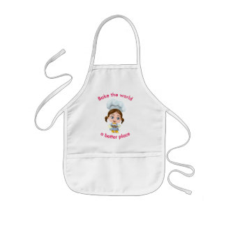 Leuke meisje-bakker || bakt de wereld een betere kinder schort