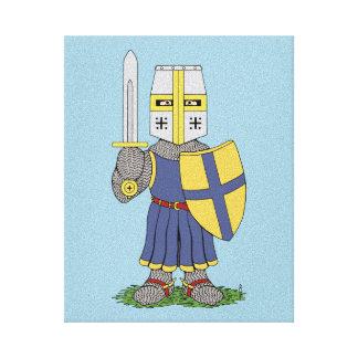 Leuke Middeleeuwse Ridder Canvas Afdrukken