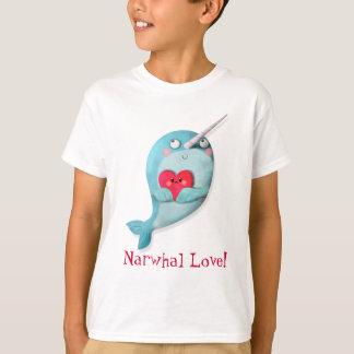 Leuke Narwal met Hart T Shirt