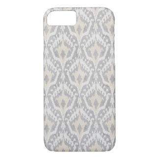 Leuke neutrale grijze en beige ikat iPhone 7 hoesje