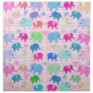 Leuke olifanten servet