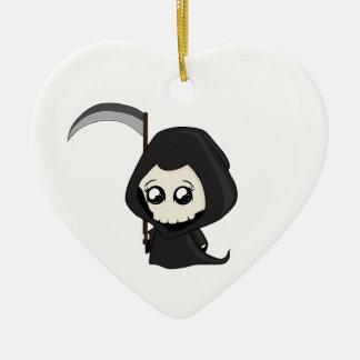 Leuke Onverbiddelijke Maaimachine Keramisch Hart Ornament