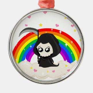 Leuke Onverbiddelijke Maaimachine Zilverkleurig Rond Ornament